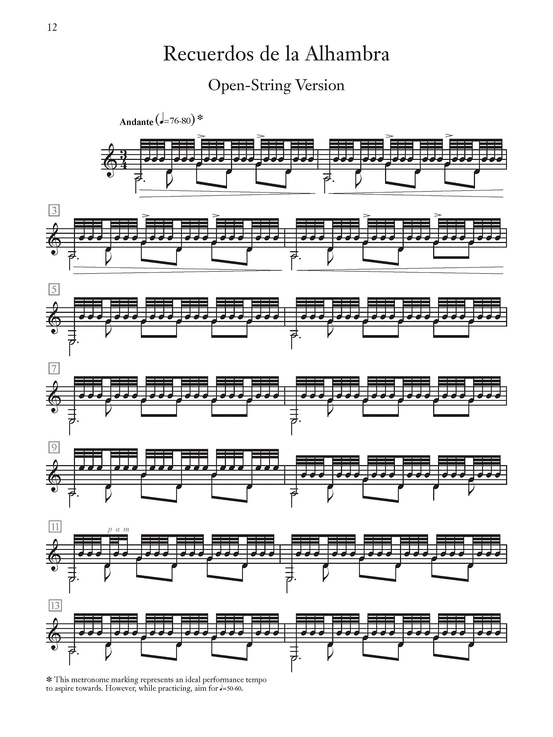 Tárrega -- Recuerdos de la Alhambra Alfred Classical Guitar ...