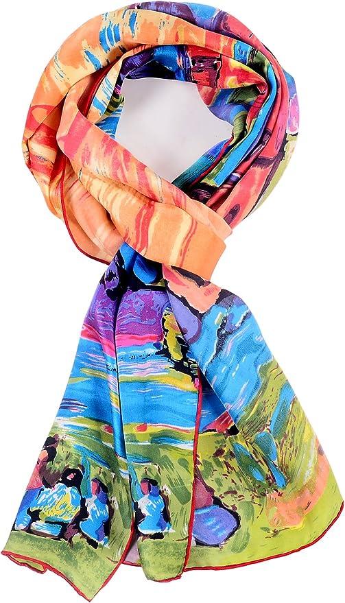34x34.5 FreePost scarves beauty satin design and nice colour S182