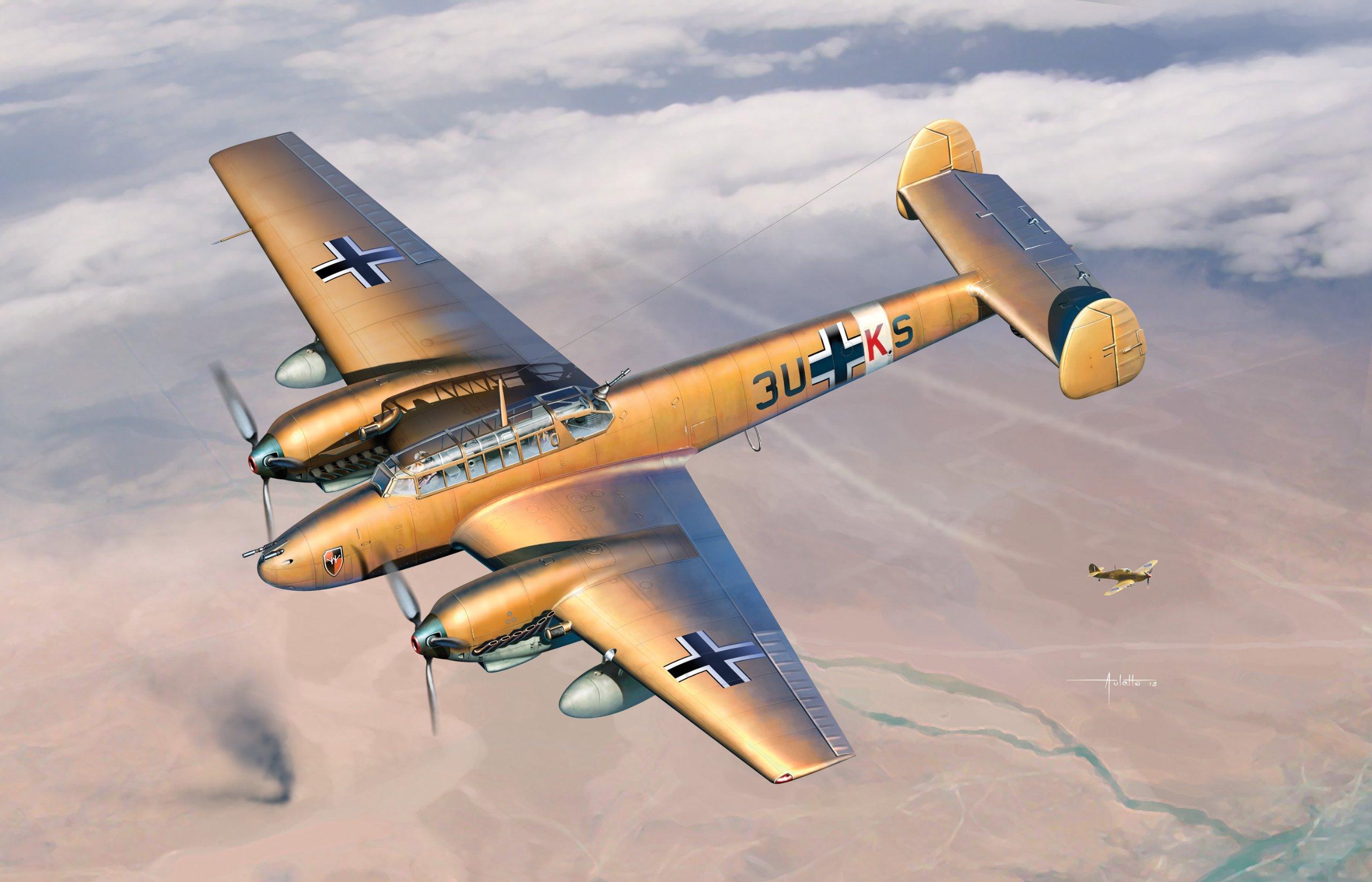 Cyber Hobby Models Messerschmitt Bf-110E-2 Trop - Wing Tech Series Model Kit (1/48 Scale)