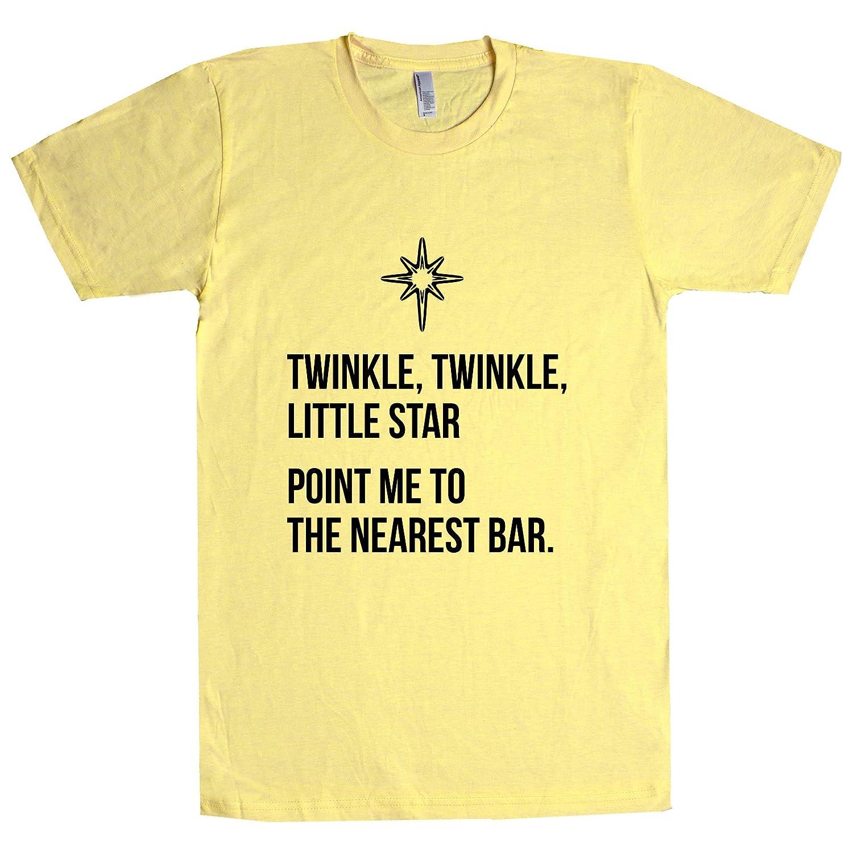 1e6099067 Twinkle Twinkle Little Star Point Me to The Nearest Bar T Shirt | Amazon.com