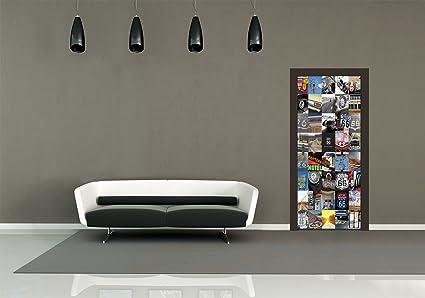1 wall decorazione per porte route 66 maxi sticker giant