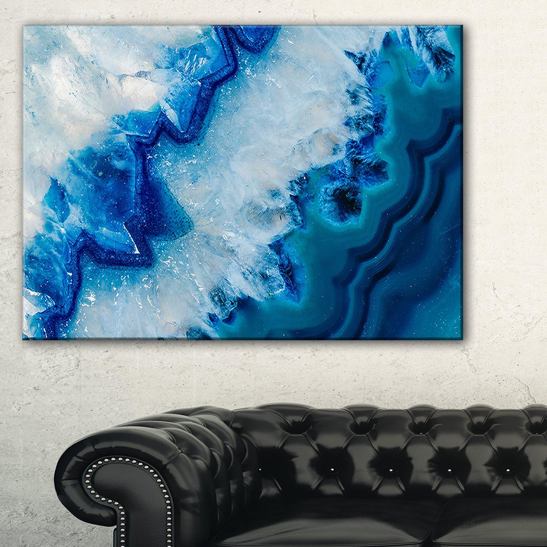 Designart Geode Slice Macro Abstract on Canvas Art Wall Photgraphy Artwork Print by Design Art