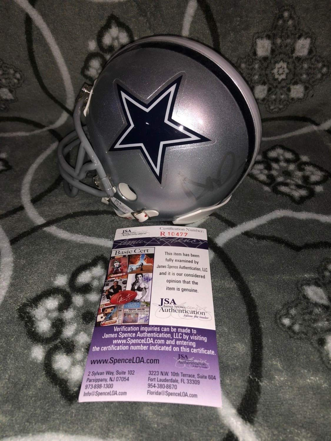 Dak Prescott Dallas Cowboys Autographed Signed Football Mini Helmet-JSA Coa