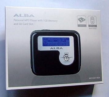 Alba Personal 1 GB Reproductor de MP3 con ranura para ...