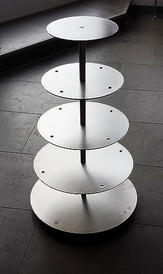 Tortenständer aluminium tortenständer rund tortenetagere hochzeit 5 etagen alu ø