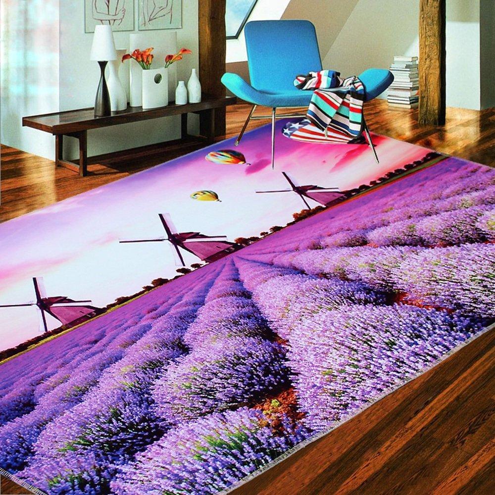 ZR- ブレンドファッションガーデンモダンリビングルームのドアコーヒーテーブルベッドルームホーム長方形ベッドサイドカーペット(色、サイズオプション) (色 : A, サイズ さいず : 120 * 180cm) 120*180cm A B07FND56VH