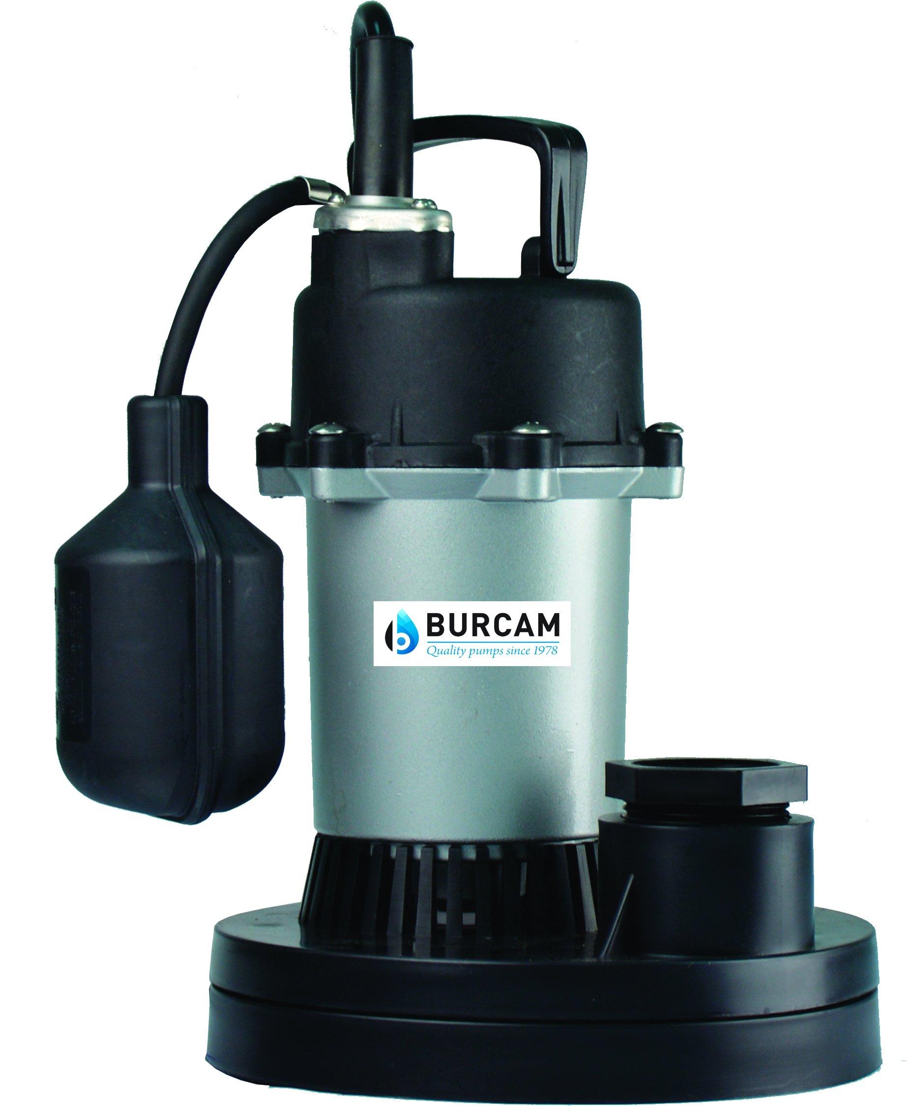 Bur-Cam 300500Z 1/3 Horsepower Z Coated Submersible Sump Pump Mechanical Float Switch, 115V/1-1/2 In Npt by Bur-Cam (Image #1)
