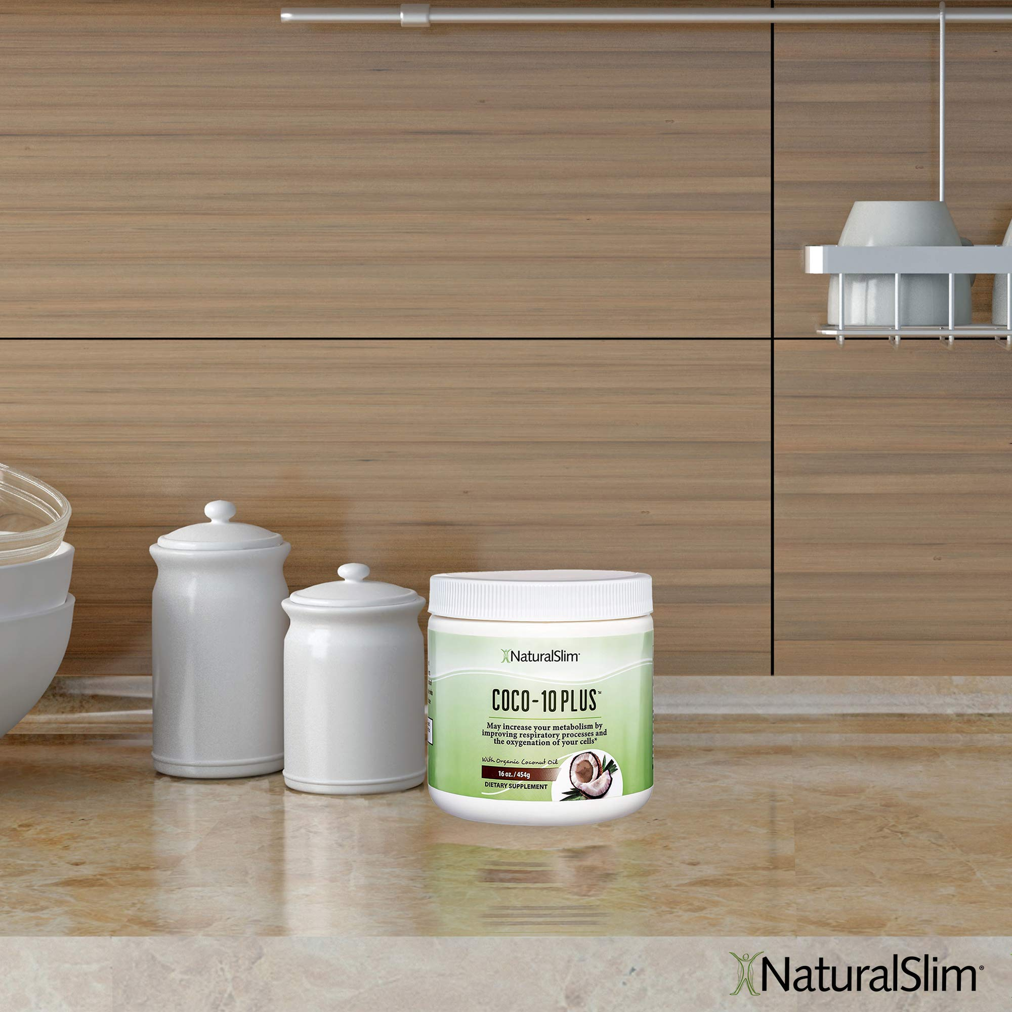 NaturalSlim''Super'' Organic Coconut Oil with CoQ10, Formulated by Obesity and Metabolism Specialist to Improve Energy Levels and Assist with Weight Loss - Natural Fat Burner to Any Diet Attempt 16 Oz by RelaxSlim  (Image #7)
