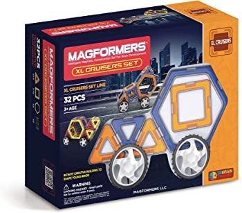 Magformers 32-Pieces XL Cruisers Car Set