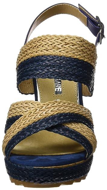 Womens Ganza Platform Sandals, Blue Maria Mare