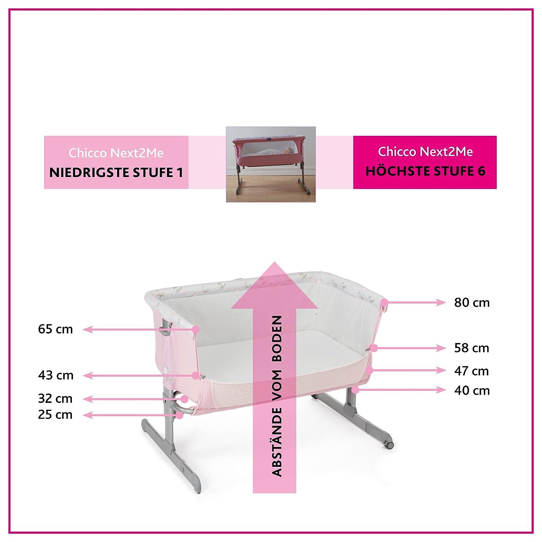 Chicco Next2Me - Cuna de colecho con anclaje a cama, 6 alturas, colección 2017, color gris estampado: Amazon.es: Bebé