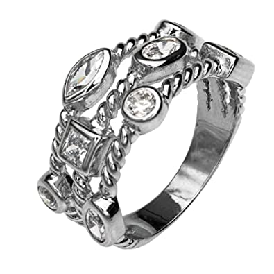 ccc597f2fe0e5 Paz Creations .925 Sterling Silver Spinner Ring with Silver Spinners ...