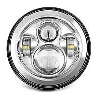 "7"" LED Headlight For Harley Davidson MOTORCYCLE CHROME PROJECTOR DAYMAKER HID LED LIGHT BULB for Jeep Wrangler JK LJ CJ LED Headlamp"