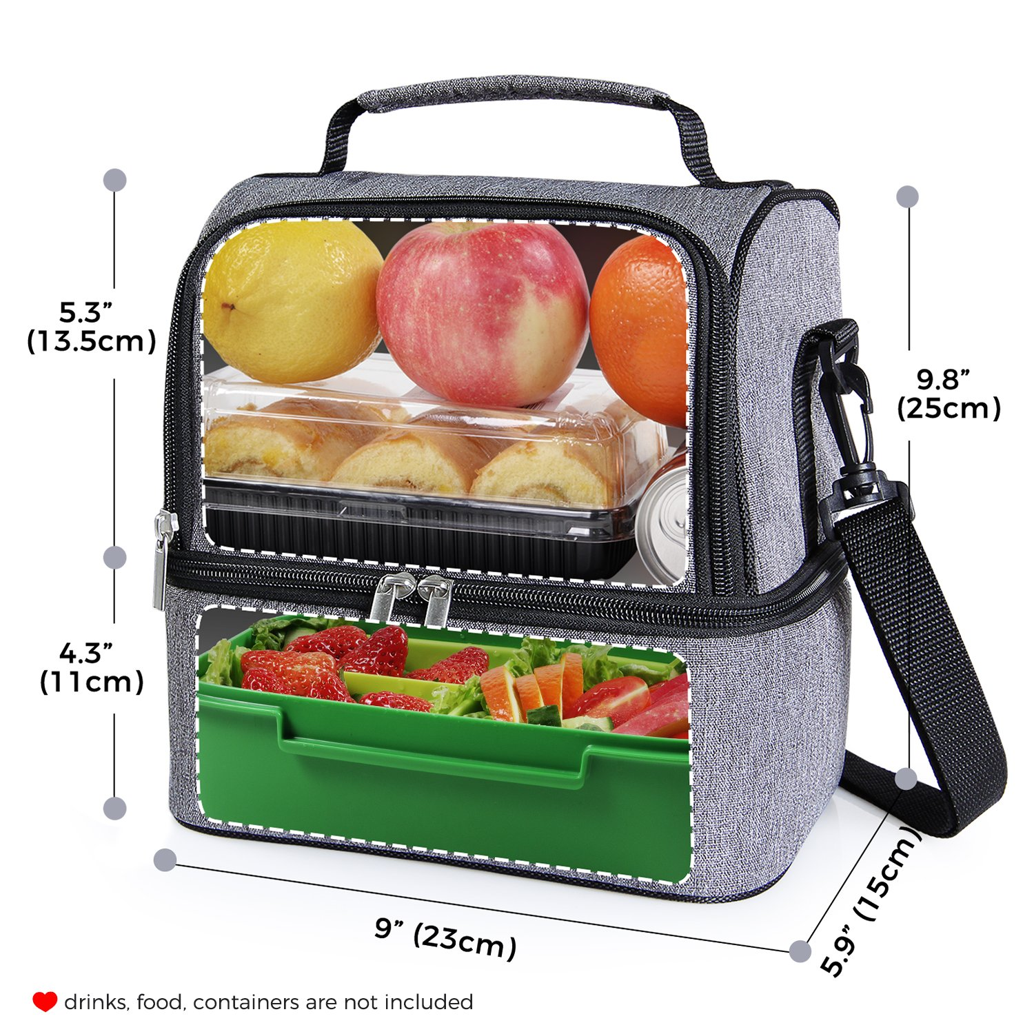 An Insulated Double Decker Lunch Bag​ -19 practical gifts for him - OurMindfulLife.com