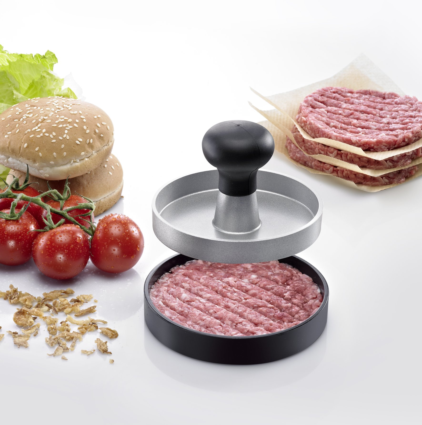 Westmark Germany Aluminum Burger Press Makes the Perfect Burgers for Your Kitchen Barbecue and Grills