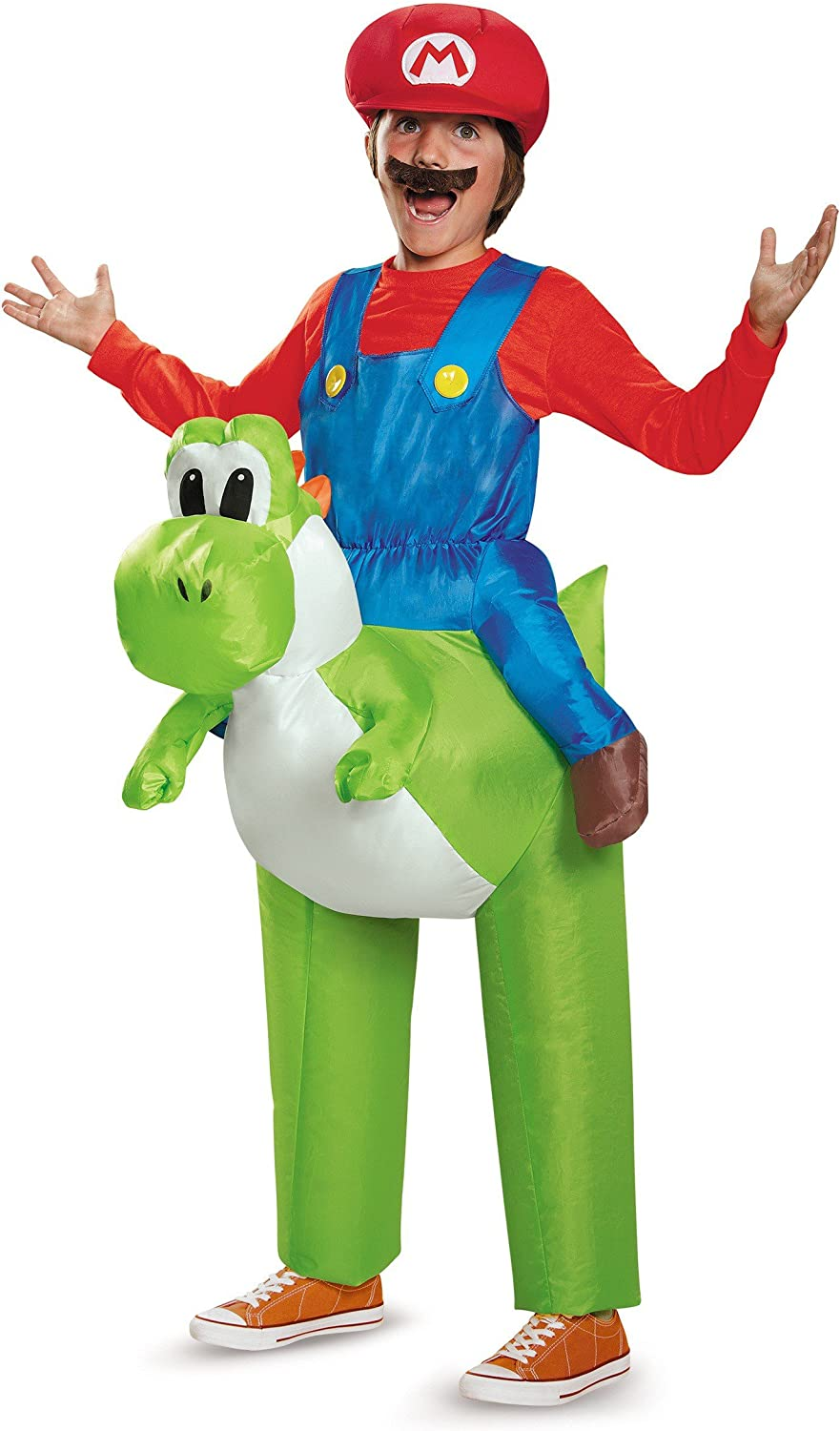 Disguise Inc - Super Mario Bros: Ride a Yoshi Inflatable Child Costume