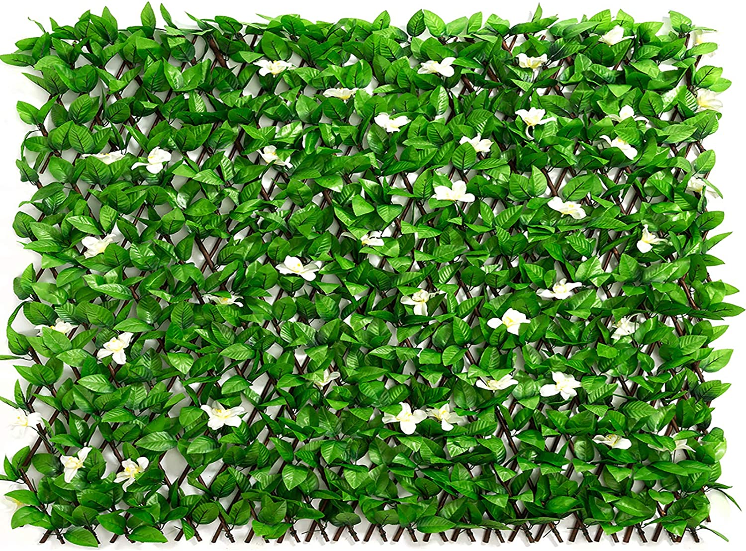 DOEWORKS Expandable Fence Privacy Screen for Balcony Patio Outdoor, Faux Ivy Fencing Panel for Backdrop Garden Backyard Home Decorations - 1PACK
