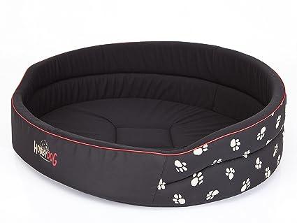 Hobbydog Cama de Espuma para Perro, tamaño 5, Color Negro con Patas