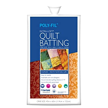 Amazon.com: Fairfield Poly-Fil Extra-Loft White Quilt Batting ... : quilt batting sizes - Adamdwight.com