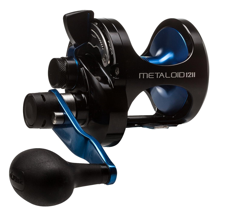 Okuma Metaloid 4bb 4.7 : 1 & 2.1 : 1機械加工アルミ2速度レバードラッグ B0160B9MTM  ブルー