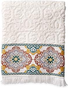 Peri Home Kilim Boho Bath Decor 100% Cotton 1 Bath Towel, 27 x 52, Multi