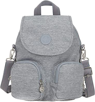 Kipling pequeña Peppery Firefly Up Small Backpack Cool Denim ...