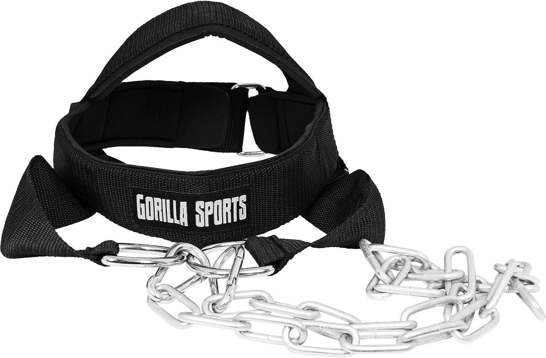 Harnais de t/ête pour Le Cou Gorilla Sports Casque de renforcement du Cou