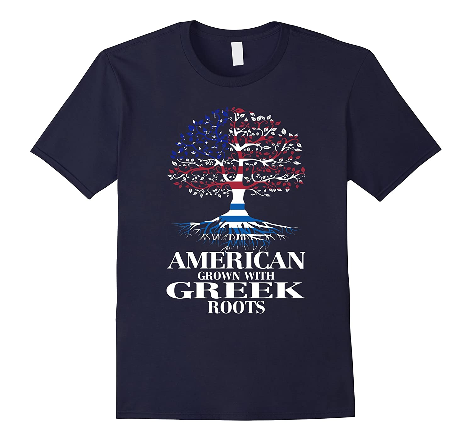 American Grown With GREEK Roots T-Shirt Tshirt-BN