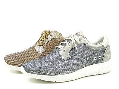 Mustang 1242-301 Zapatillas de lona mujer , Schuhgröße:40;Farbe:Silber: Amazon.es: Zapatos y complementos