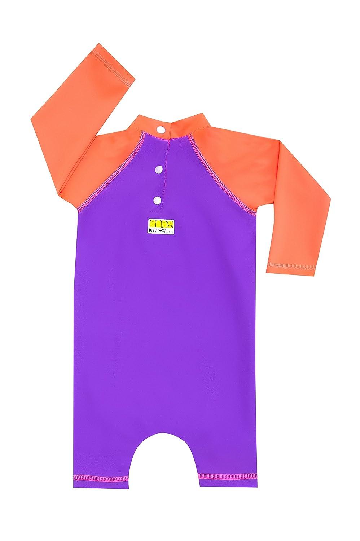 Color Fingers Sunsuit//Swimsuit with Snap Buttons