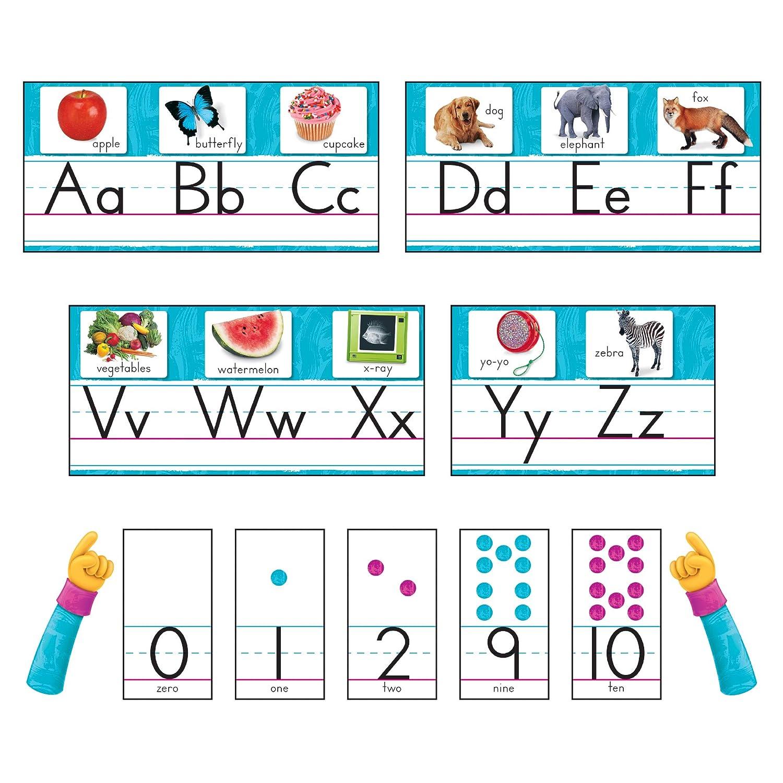 TREND enterprises, Inc. T-8431 Color Harmony Photo Alphabet Bulletin Board Set, Blue, Sizes Vary