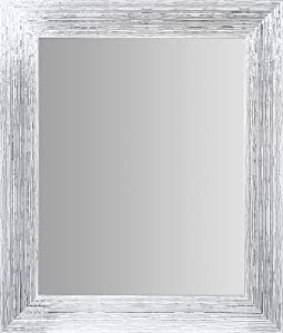 "Everly Hart Collection Textured Framed Wall Mounted Accent Mirror, 16"" x 20"", White"