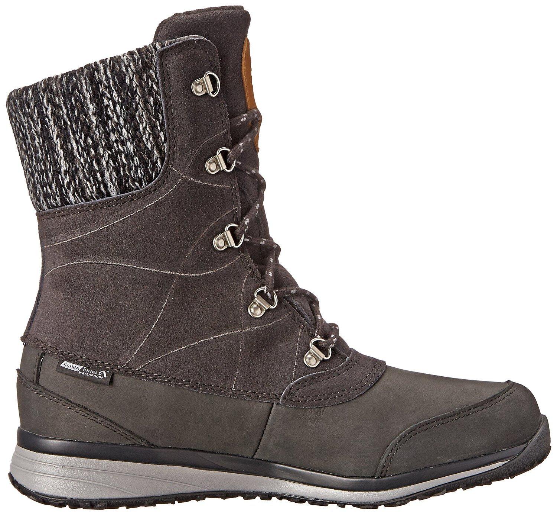 Salomon Women's Hime Mid Leather CSWP Winter Wear Boots Asphalt 8.5 & Collapsing Waterbottle Bundle by Salomon