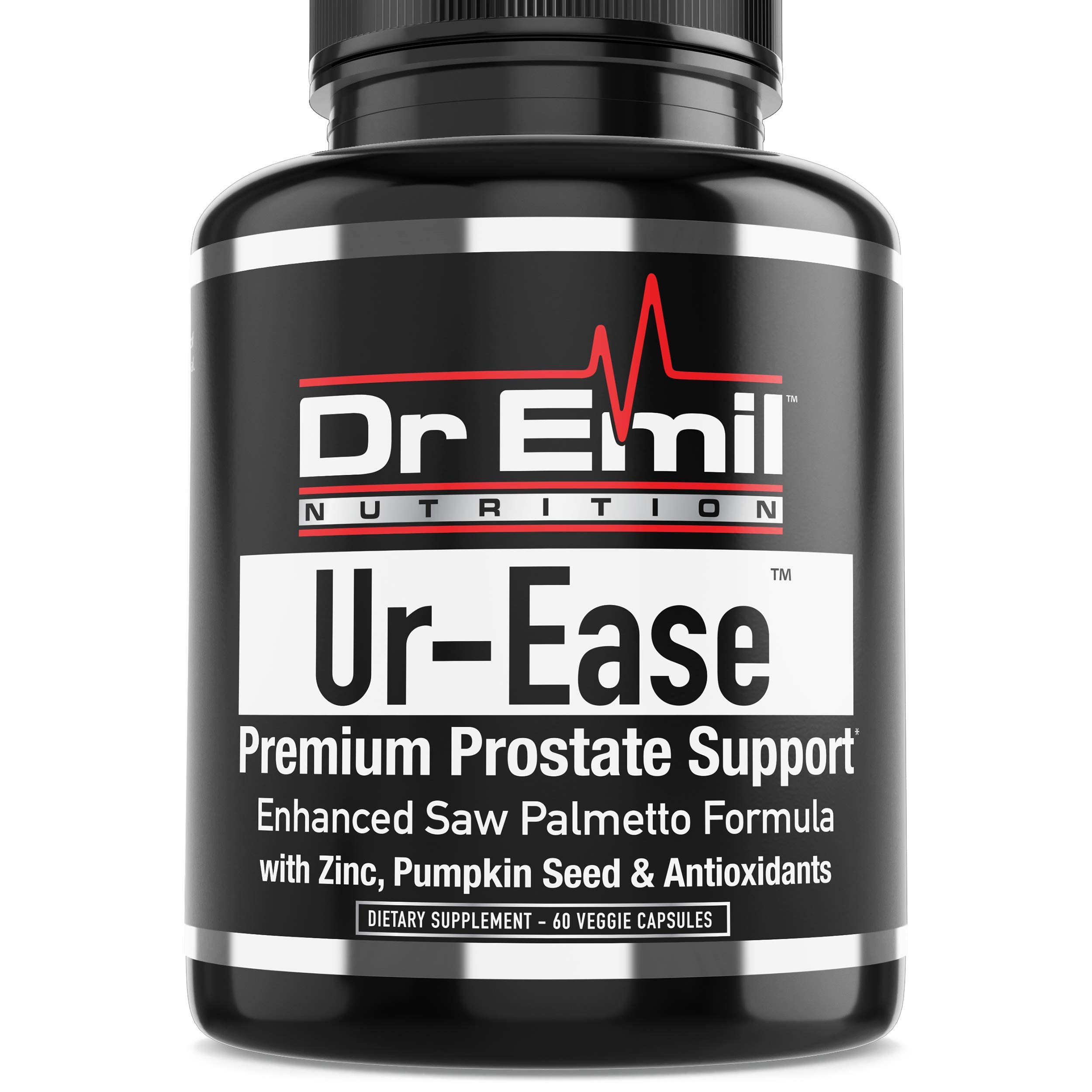Dr. Emil's UR-Ease - Prostate Support w/Saw Palmetto & Potent Antioxidants - Prostate Health Supplement for Frequent Urination & Bladder Control (60 Veggie Capsules)