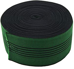 """PBRO Sofa Elastic Webbing Stretch Latex Band Furniture Repair DIY Upholstery Modification Elasbelt Chair Couch Material Replacement Stretchy Spring Alternative Three Inch 3"""" Wide x Forty Ft 60"""" Roll"""