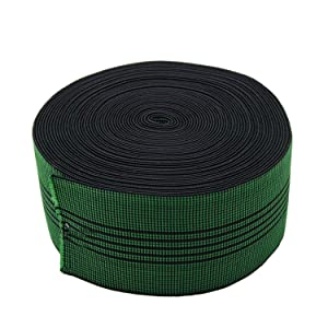 "PBRO Sofa Elastic Webbing Stretch Latex Band Furniture Repair DIY Upholstery Modification Elasbelt Chair Couch Material Replacement Stretchy Spring Alternative Three Inch 3"" Wide x Forty Ft 40"" Roll"