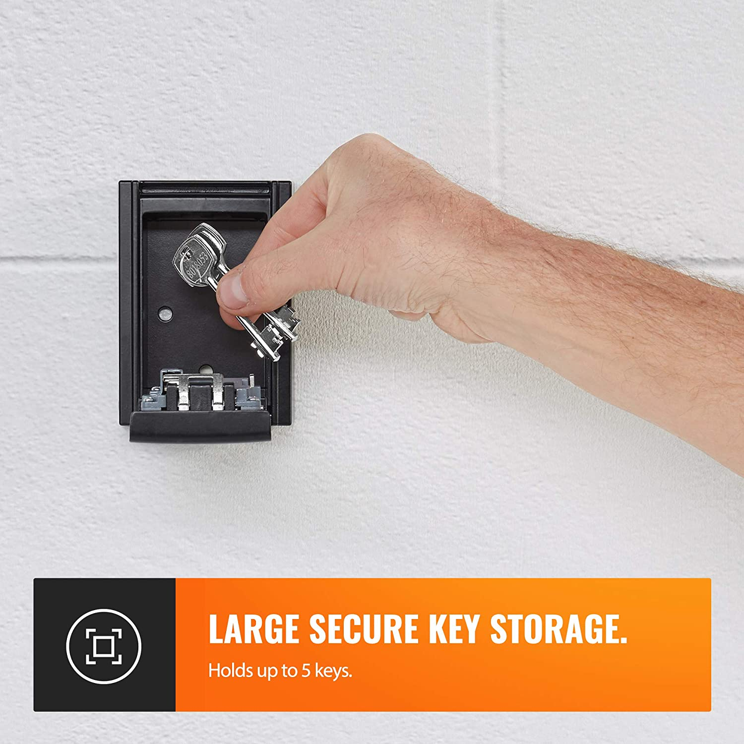 Secure Wall Mount Key Holder Code Combination Lock Durable Fits Multiple Keys Wall Mount Outside or Inside VonHaus Key Safe//Key Lock Storage Box Rust Resistant For Outdoor Use