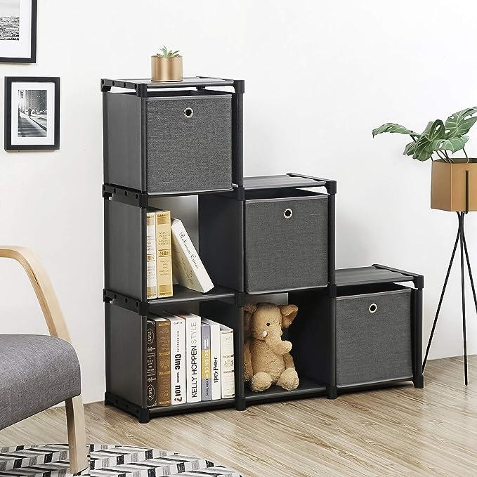 Amazon.com: SONGMICS Cube Storage, 6-Cube Bookcase, Ladder ...