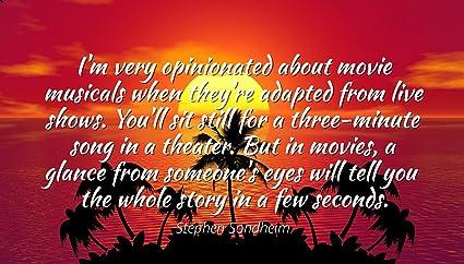 Amazon.com: Stephen Sondheim - Famous Quotes Laminated ...