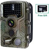 "Hunting Trail Camera,FLAGPOWER Wildlife Game Camera 16MP 1080P HD Low Glow with Time Lapse 75ft 120°Wide Angle Infrared Night Vision 46pcs IR LEDs 2.4"" LCD Screen IP56 Scouting Cam Deer Camera"