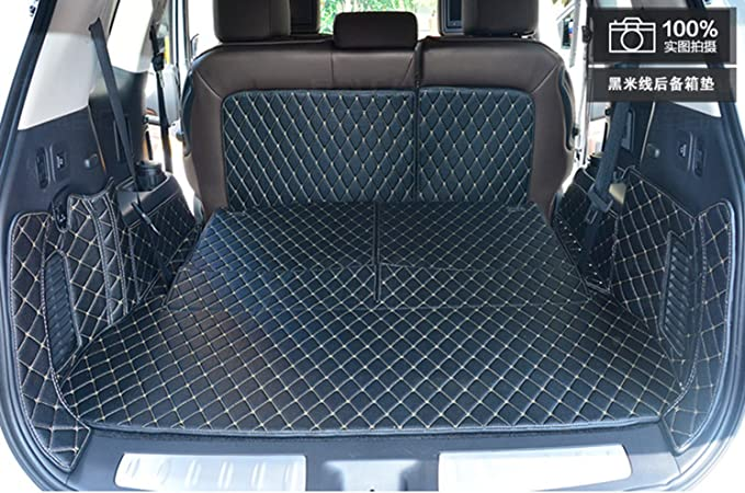 Summir Fit for Infiniti QX60 2014-2018 Leather Car Floor Auto Mats Waterproof Mat Non Toxic and inodorous/ Coffee