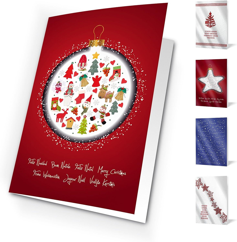 Unicef XR16042017 Felicitaciones de Navidad Good Wishes Pack de 10 Tarjetas: Amazon.es: Oficina y papelería