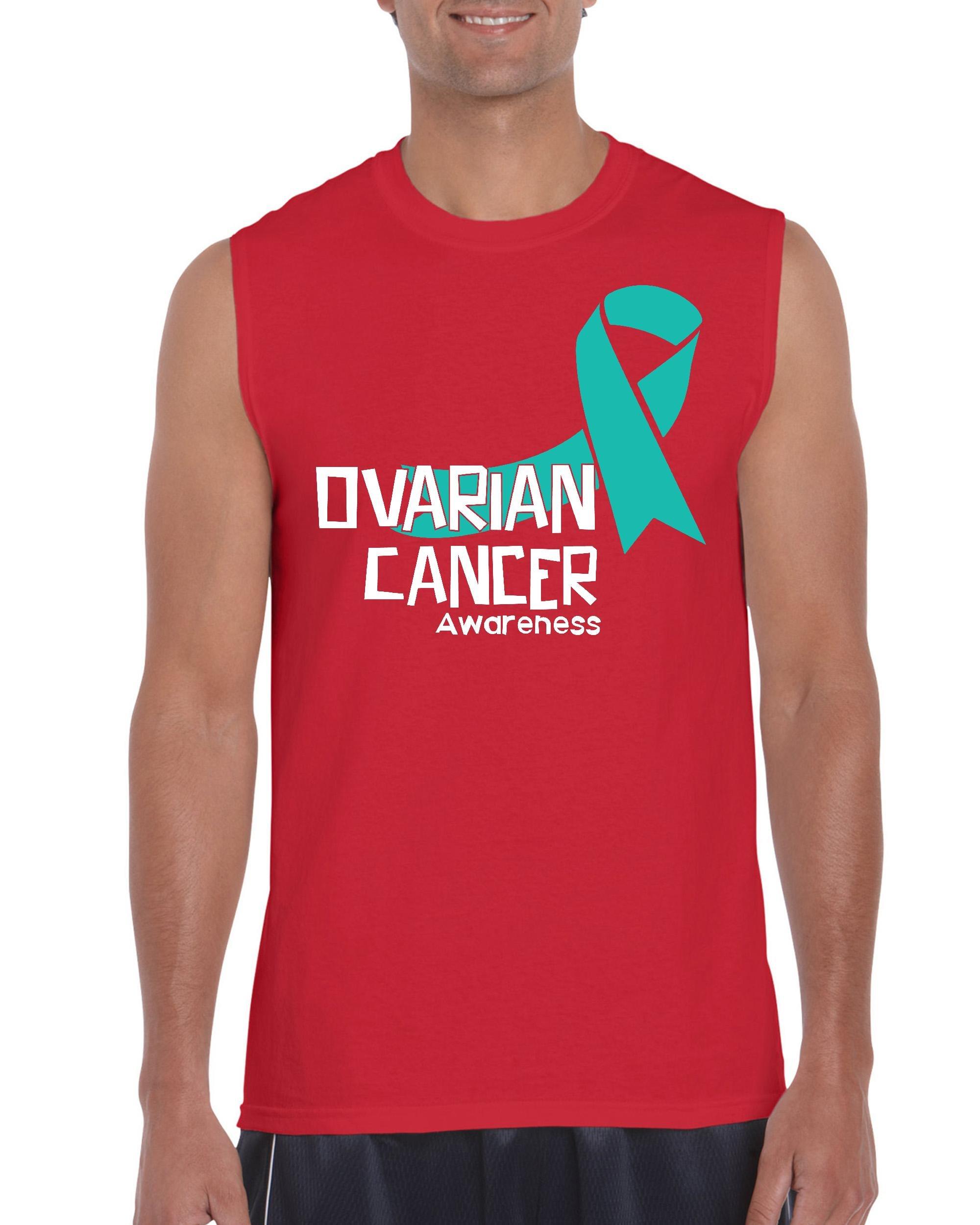 Nib Ovarian Cancer Awareness Ribbon Ultra Sleeveless 6828 Shirts