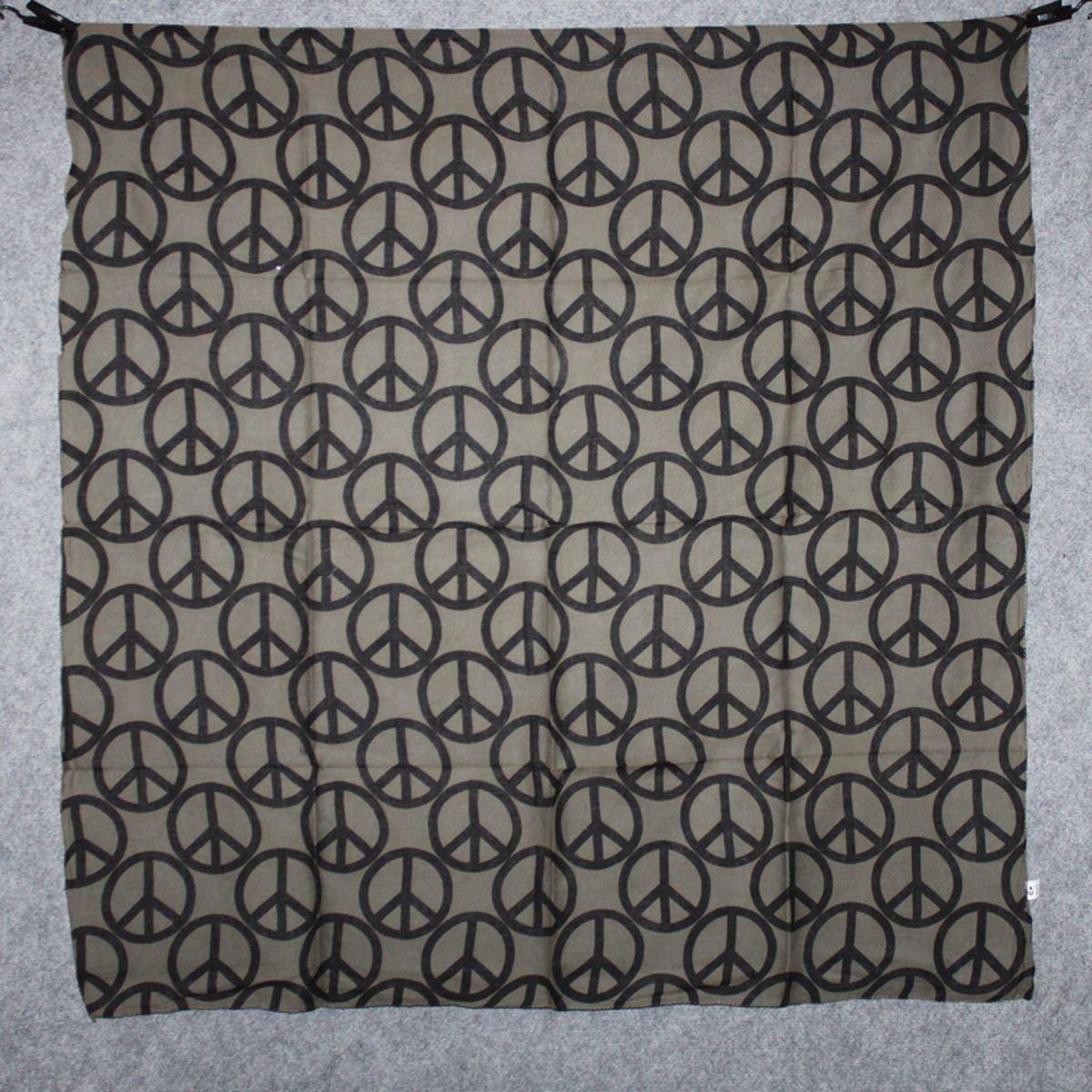 Freak Scene Sciarpa di cotone /° Segno di pace 10 cm /° stoffa quadrata