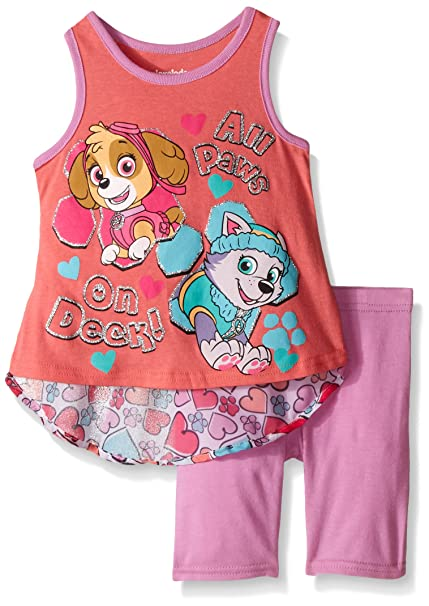 f06653d35202b Paw Patrol Little Girls' Toddler 2 Piece Top and Short Set, Pink, ...