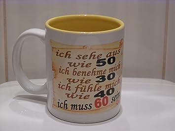 Kaffeebecher Zum 60 Geburtstag Als Lustiges Geschenk Fur Oma Opa