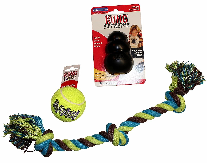 34cb5dbba225c Pet Supplies : Dog Toy Bundle: (1) Medium KONG Extreme Dog Toy ...