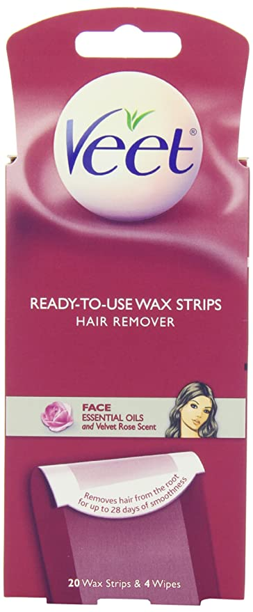 Buy Veet Facial Hair Remover Cold Wax Strips 20 Count Online At