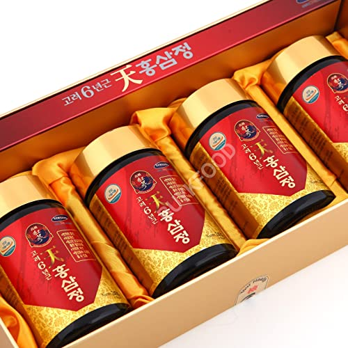 Korean 6years Root Red Ginseng Gold Extract, 240g 8.5oz X 4ea, Saponin, Panax