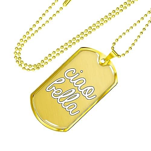 Amazon.com: Gold Ciao Bella - Collar con colgante de cúpula ...